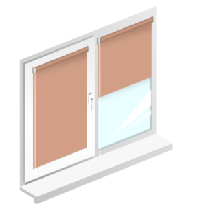 Рулонные шторы батист цвет светло-коричневые