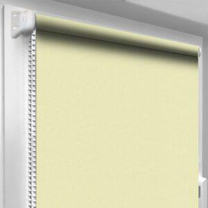 Рулонные шторы блэкаут серебро Лимонный шифон