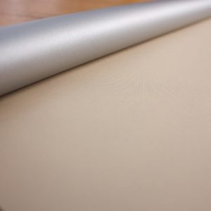 Рулонные шторы блэкаут серебро Крем брюле
