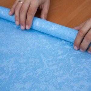 Рулонные шторы Венеция цвет голубой