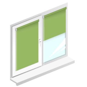 Рулонні штори Оазис блекаут срібло – колір зелений луч