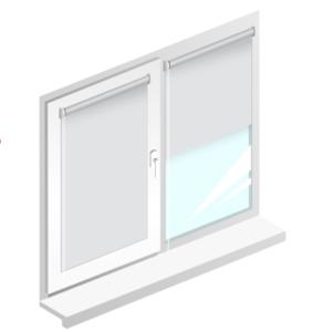 Рулонные шторы блэкаут белый