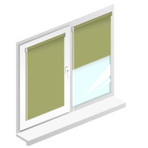 Рулонні штори Oasis блекаут срібло – колір олива