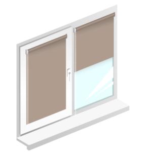 Рулонні штори Оазис блекаут срібло – колір кориця