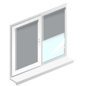 Рулонні штори Oasis блекаут срібло – сірий лід