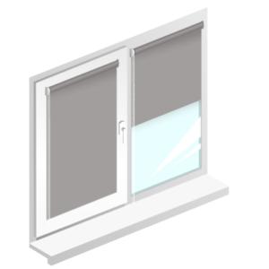 Рулонні штори Oasis блекаут срібло – колір Ковентрі