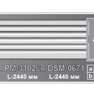 Плоский молдинг PM-3102СА