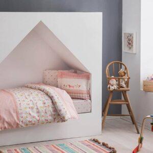 Комплект постільної білизни в ліжечко TAC Happy Pink Ранфорс