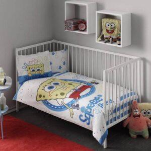 Детское постельное белье TAC Sponge Bob Baby Ранфорс