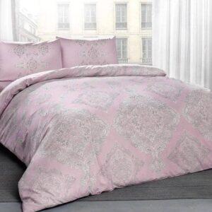 Двоспальний євро комплект TAC Mirabel Pink Ранфорс