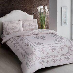 Двуспальный комплект постельного белья (евро) TAC Royce Pink Ранфорс