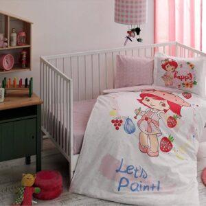 Комплект дитячої постільної білизни TAC Strawberry Shortcake Paint Ранфорс