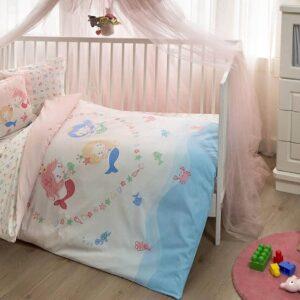 Дитячий комплект постільної білизниMermaid Pink ТАС