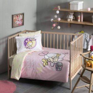 Комплект постільної білизни в ліжечко TAC Sizinkiler Little Princess Ранфорс