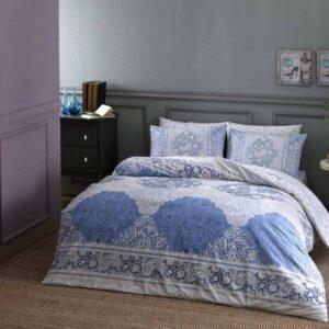 Постельное белье комплект (евро) TAC – Aryan Blue  Ранфорс