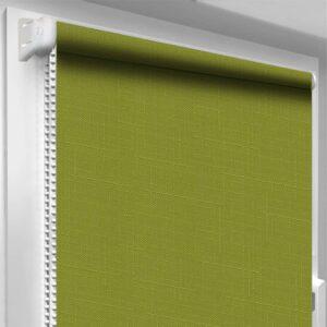 Рулонні штори Льон DecoSharm Зелені арт7383