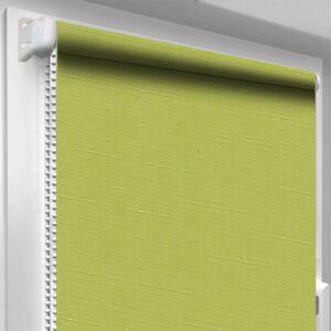 Рулонные шторы Лён DecoSharm Зеленые арт873