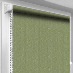 Рулонные шторы Лён DecoSharm Зеленые арт2098