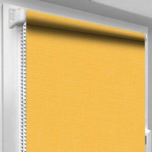 Рулонні штори Льон DecoSharm Жовті арт858