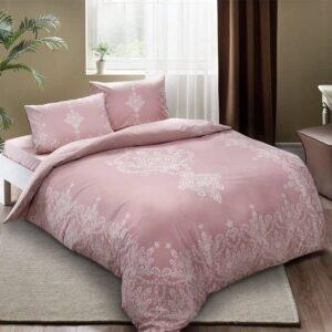 Двоспальний євро комплект TAC Harper Pink Ранфорс