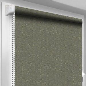 Рулонные шторы Лён DecoSharm Зеленые арт7437