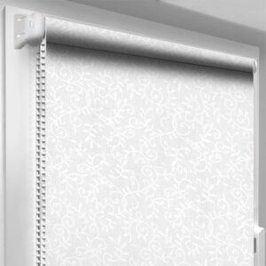 Рулонные шторы с рисунком DecoSharm Цветы 5175/1 Серые