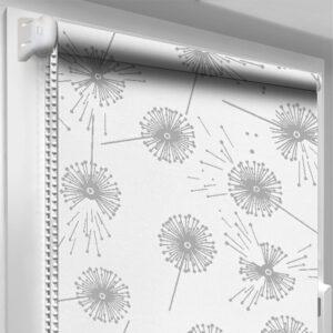 Рулонні штори з принтом DecoSharm Квіти 5428/1 Білі