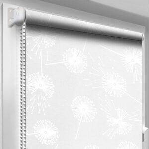 Рулонные шторы с рисунком DecoSharm Цветы 5428/6 серые
