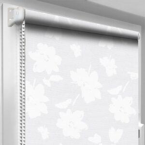 Рулонные шторы с принтом DecoSharm В393 Белые