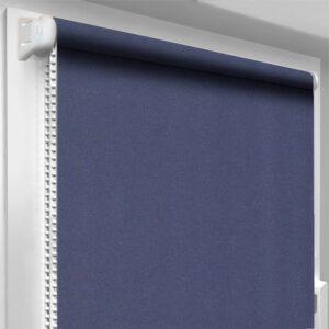 Шторы блекаут синие DecoSharm Термо арт 304