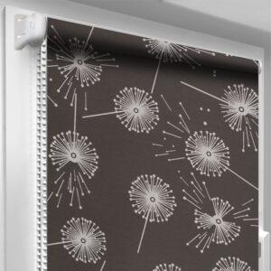 Рулонные шторы с рисунком DecoSharm Цветы 5428/3 Коричневые