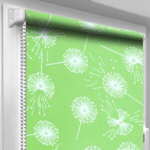 Рулонные шторы с рисунком DecoSharm Цветы 5428/7 Зелёные