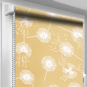 Рулонные шторы с рисунком DecoSharm Цветы 5428/9 Песочные
